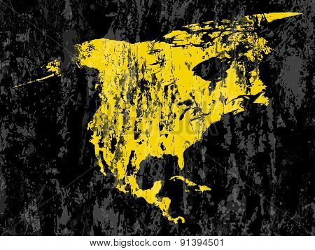 Grunge North America Map