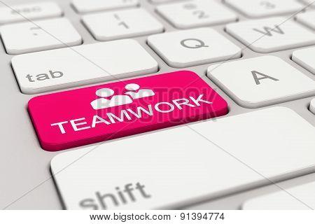 Keyboard - Teamwork - Magenta