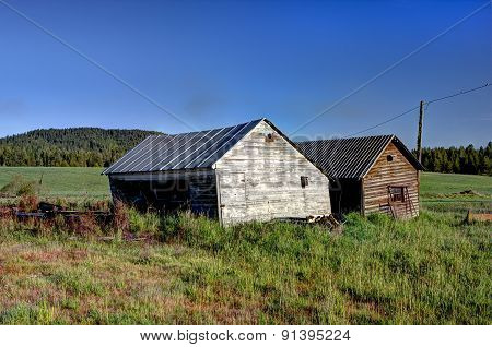 Two Old Sheds.