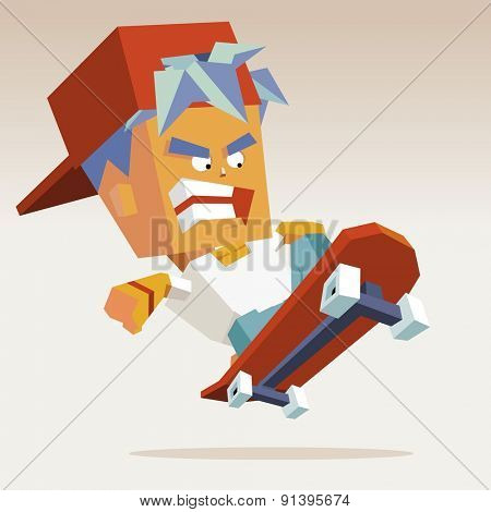 skater hat action.vector illustration