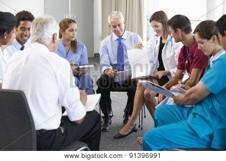 Portrait Of Group Of Workers In Medical Professions