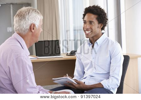 Middle Aged Man Having Counselling Session
