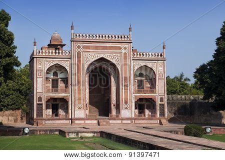 Gate to Itmad-Ud-Daulah's Tomb (Baby Taj) at Agra Uttar Pradesh India