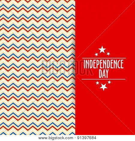 Beautiful greeting or invitation card for American Independence Day celebration.
