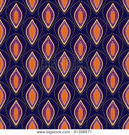 Seamless Dotted Abstract Ornamental Pattern Background