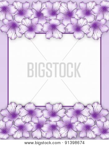 Flower Frame. Floral Border. Bouquet Azalea Flowers