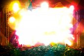 pic of stage decoration  - Abstract live music background - JPG