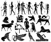 stock photo of horus  - Vector - various themes of ancient Egypt: 