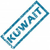 stock photo of kuwait  - Blue rubber stamp with city name Kuwait - JPG