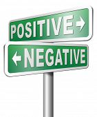 picture of think positive  - positive or negative thinking pessimistic or optimistic view - JPG