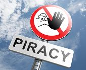stock photo of stop fighting  - piracy stop illegal download of movies and music and illegal copying copyright and intellectual property protection protect copy of trademark brand - JPG