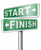 stock photo of start over  - start finish 