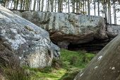 pic of raider  - The cave where monks are reputed to have hidden the body of St Cuthbert away from Viking raiders - JPG