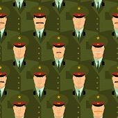 image of army soldier  - Russian military officers seamless pattern - JPG
