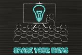 picture of mentoring  - conference presentation or school class with mentor depicting a brilliant idea - JPG