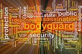 image of bodyguard  - Background concept wordcloud illustration of bodyguard glowing light - JPG