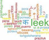 pic of leek  - Background concept wordcloud multilanguage international many language illustration of leek - JPG
