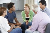 stock photo of aa meeting  - Meeting Of Support Group - JPG