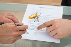 picture of rental agreement  - Close - JPG