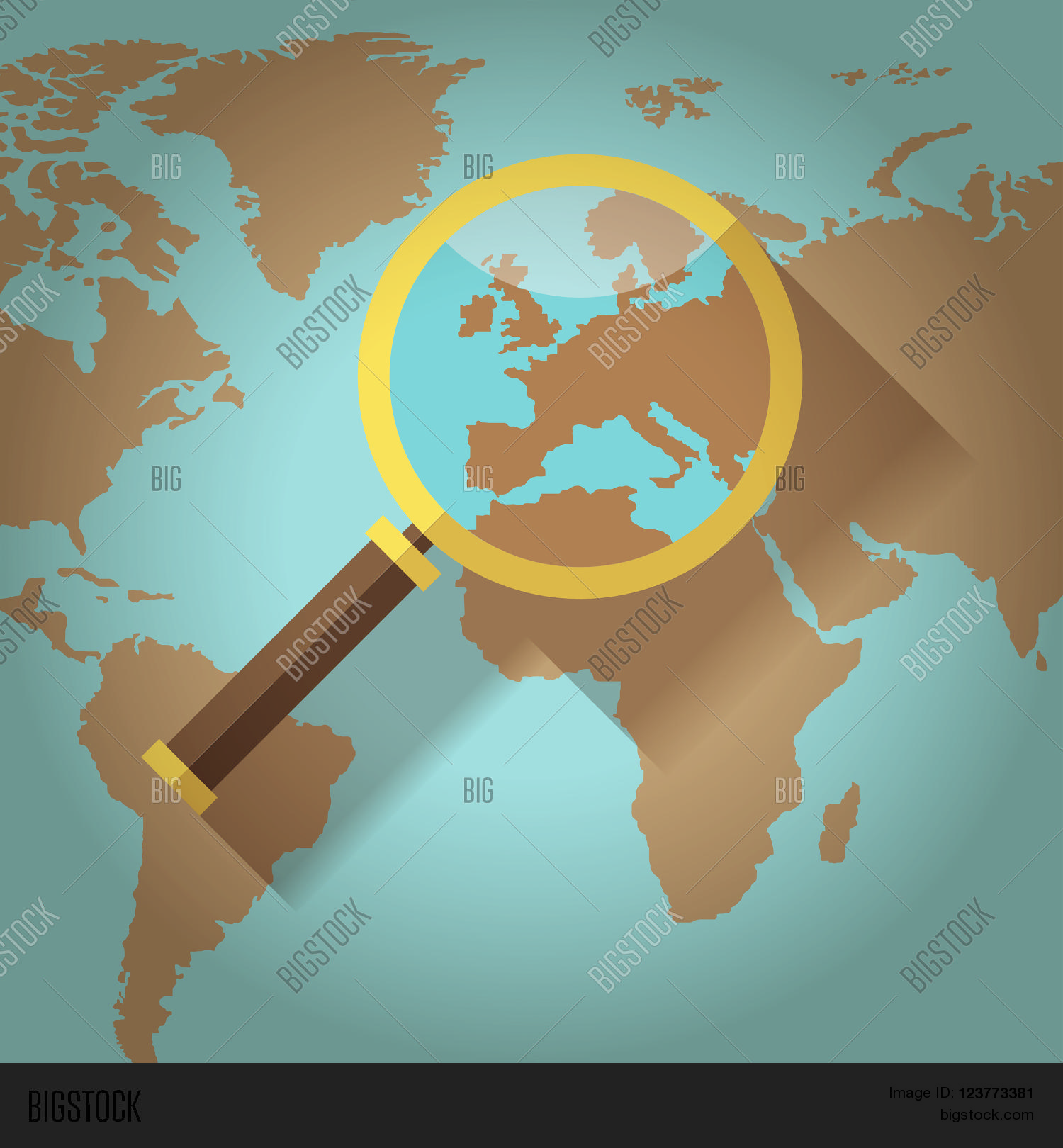 World map countries europe vector photo bigstock world map countries with europe magnifying glass gumiabroncs Choice Image