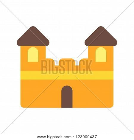 Castle, princess, fairytale icon vector image. Can also be used for outdoor fun. Suitable for use on web apps, mobile apps and print media.