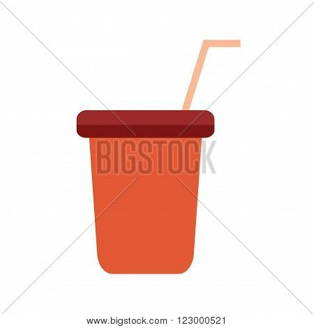 Juice, cup, plastic icon vector image. Can also be used for outdoor fun. Suitable for use on web apps, mobile apps and print media