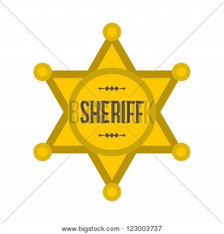 Sheriff star icon isolated on white background