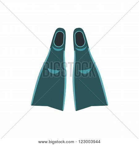 Blue flippers icon isolated on white background