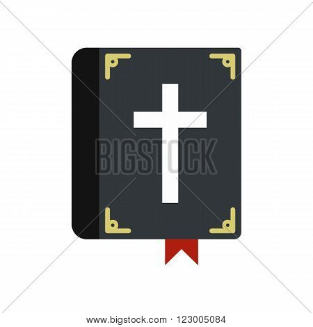 Bible single icon in flat style isolated on white background