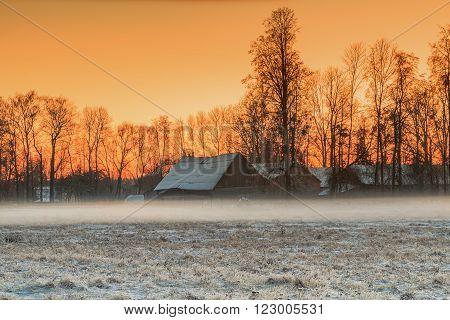 Homestead In Sunset
