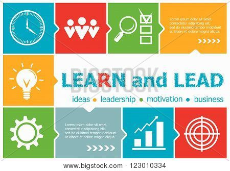 Learn And Lead Design Illustration Concepts For Business, Consulting, Management, Career.