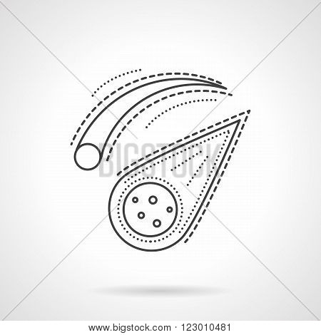 Meteorites and comets. Space bodies. Space research. Science and education. Vector icon flat thin line style. Element for web design, business, mobile app.