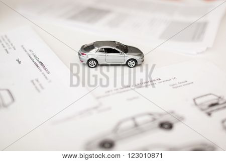 Document and Form of a Vehicle Sales or rental Agreement