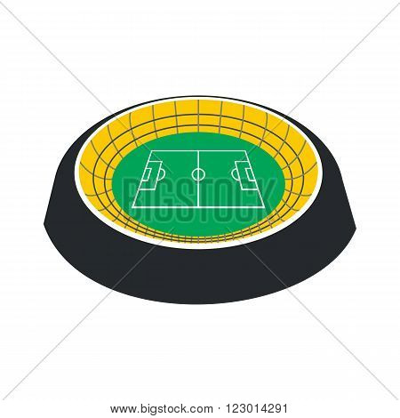 Football soccer round stadium icon in flat style isolated on white background