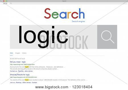 SEO. Search Logic Word. Internet Concept