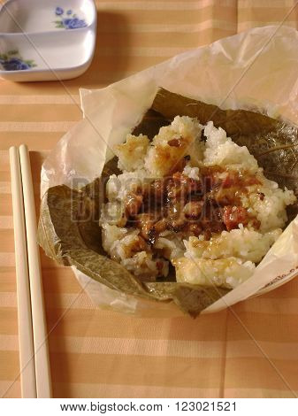 Lo mai gai, a classic dim sum dish served during yum cha hours.