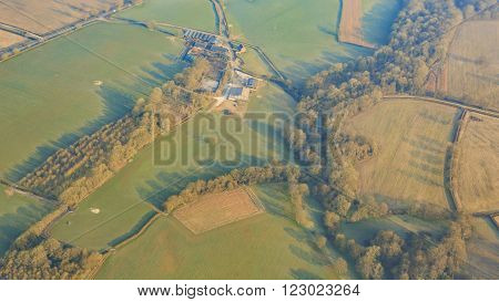 Aerial View Of Rural Near Gatwick