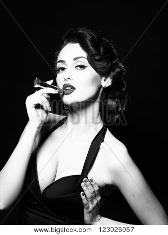 Glamour Woman With Lipstick