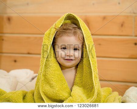 Small Boy In Towel