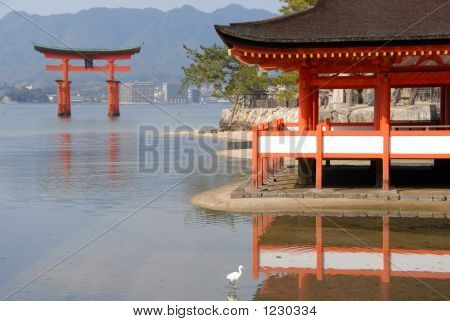 Red Floating Torii Gate