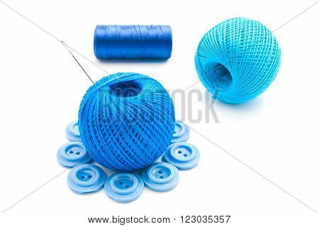 Needle, Buttons And Thread