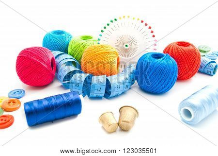 Thimbles And Other Items For Needlework