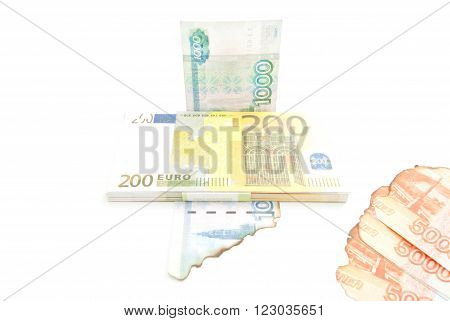 Euros And Burnt Rubles