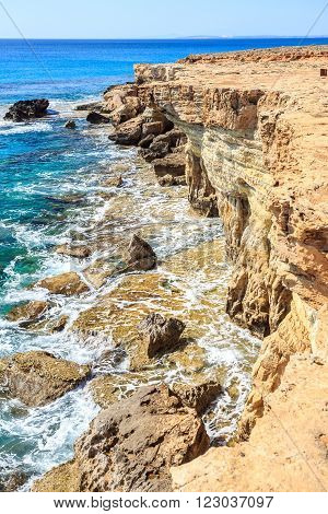 Beautiful Cliffs And Arches In Aiya Napa, Cyprus