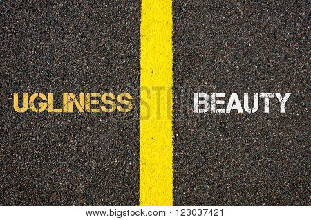 Antonym Concept Of Ugliness Versus Beauty