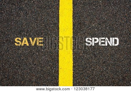 Antonym Concept Of Save Versus Spend