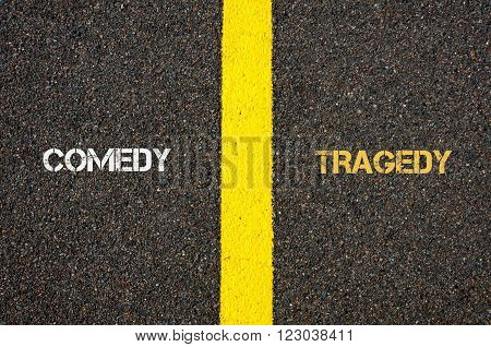 Antonym Concept Of Comedy Versus Tragedy