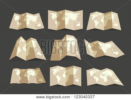 World map collection. Design elements