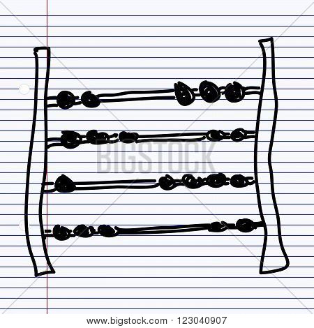 Simple Doodle Of An Abacus