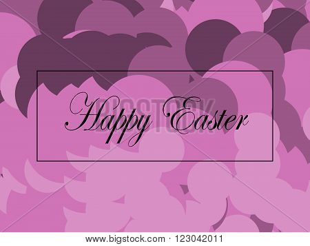 Happy Easter card in soft pink and lilac shades